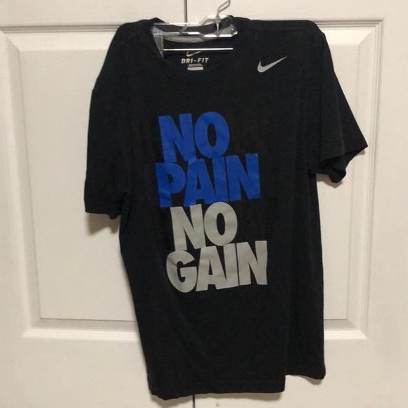 f9b21875 Nike Shirts | Know Pain Know Game No Pain No Gain Shirt | Poshmark